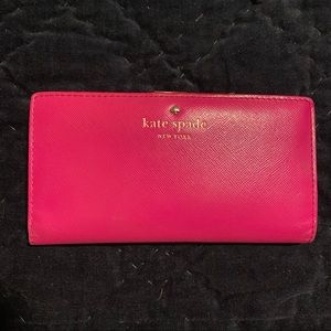 Kate spade New York Hot Pink Stacy Bifold Wallet